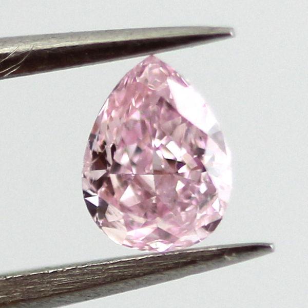 Fancy Intense Purplish Pink Diamond, Pear, 0.20 carat, I1