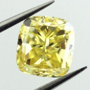 Fancy Intense Yellow, 1.51 carat, SI2