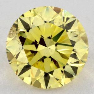 Fancy Intense Yellow, 0.61 carat, SI2