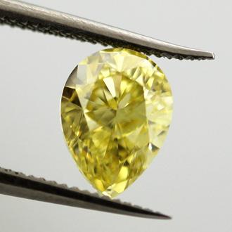 Fancy Intense Yellow, 1.11 carat, VS2