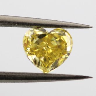 Fancy Intense Yellow, 0.56 carat, VS2