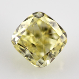 Fancy Intense Yellow Diamond, Cushion, 1.72 carat, SI2 - B