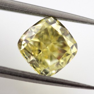 Fancy Intense Yellow Diamond, Cushion, 1.72 carat, SI2- C