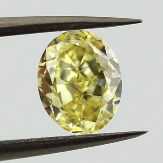 Fancy Intense Yellow, 1.12 carat, SI1