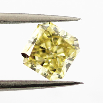 Fancy Intense Yellow Diamond, Radiant, 0.79 carat, VS1- C