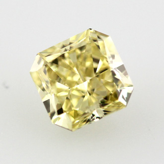 Fancy Intense Yellow Diamond, Radiant, 0.79 carat, VS1 - Thumbnail