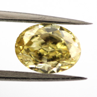 Fancy Intense Yellow, 1.04 carat, VVS2