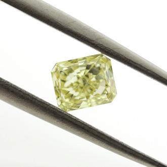 Fancy Intense Yellow, 0.58 carat, VVS2