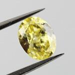 Fancy Intense Yellow Diamond, Oval, 0.72 carat, VVS2 - Thumbnail