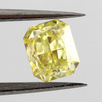 Fancy Intense Yellow, 0.43 carat, SI2