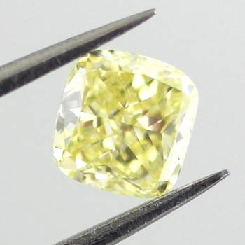 GIA Cushion Fancy Intense Yellow Diamond, 0.61 carat