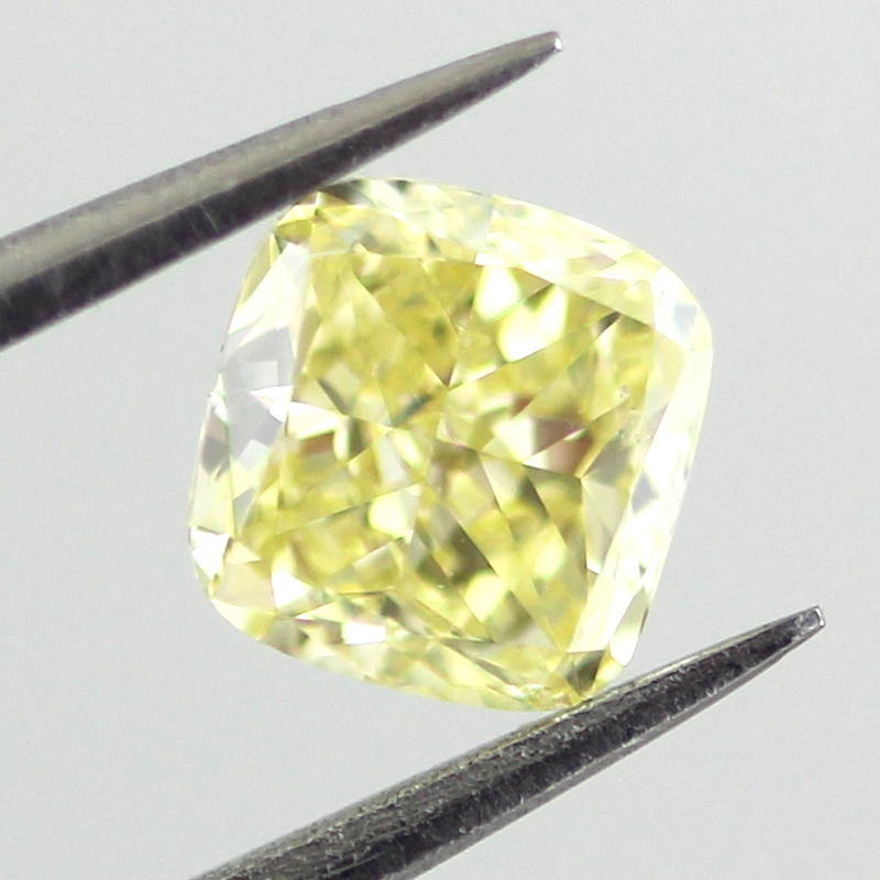 Fancy Intense Yellow Diamond, Cushion, 0.61 carat, VS2