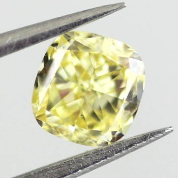 Fancy Intense Yellow, 0.51 carat, VS2