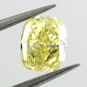 Fancy Intense Yellow, 0.54 carat, VS2
