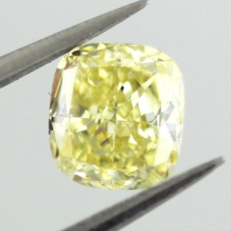 Fancy Intense Yellow Diamond, Cushion, 0.61 carat, SI1 - B