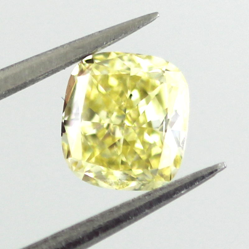 Fancy Intense Yellow Diamond, Cushion, 0.61 carat, SI1- C