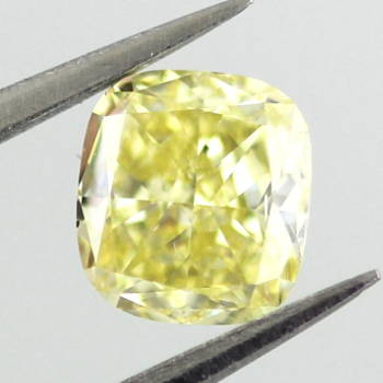 Fancy Intense Yellow, 0.61 carat, SI1