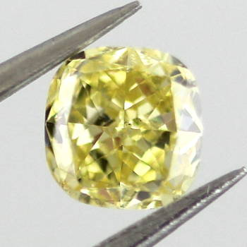 Fancy Intense Yellow, 0.32 carat, SI1