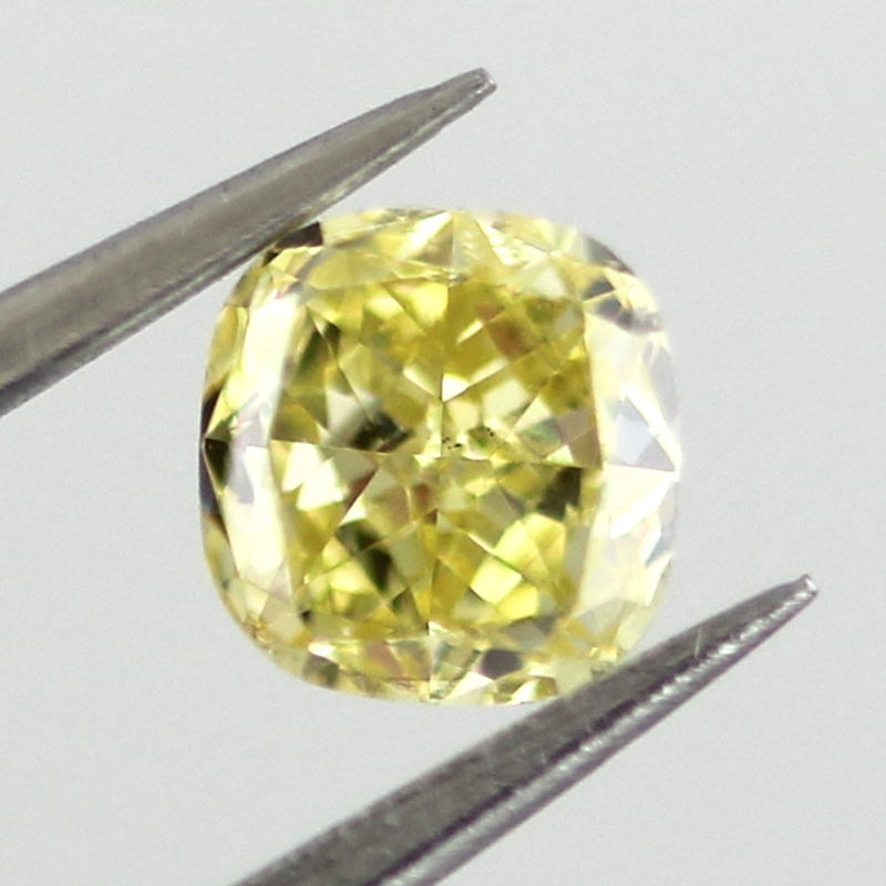 Fancy Intense Yellow Diamond, Cushion, 0.32 carat, SI1