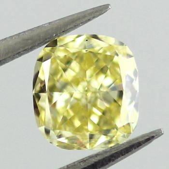 Fancy Intense Yellow, 0.34 carat, VS2