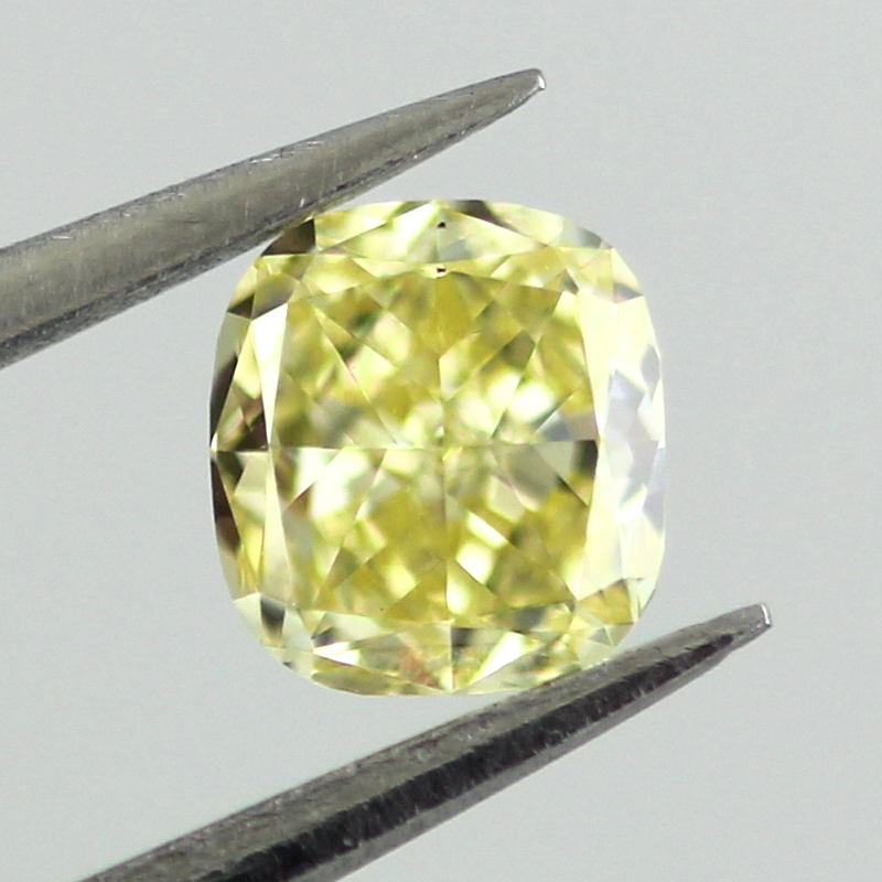 Fancy Intense Yellow Diamond, Cushion, 0.34 carat, VS2