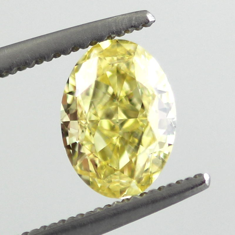 Fancy Intense Yellow Diamond, Oval, 1.03 carat, SI2