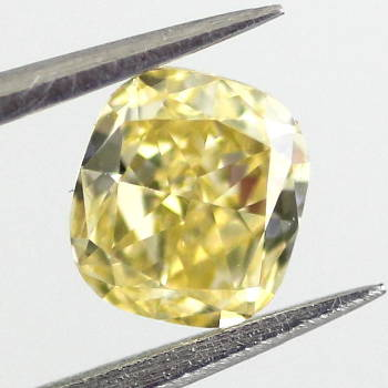 Fancy Intense Yellow Diamond, Cushion, 0.50 carat, VS1 - Thumbnail
