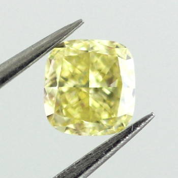 Fancy Intense Yellow, 0.33 carat, VVS2