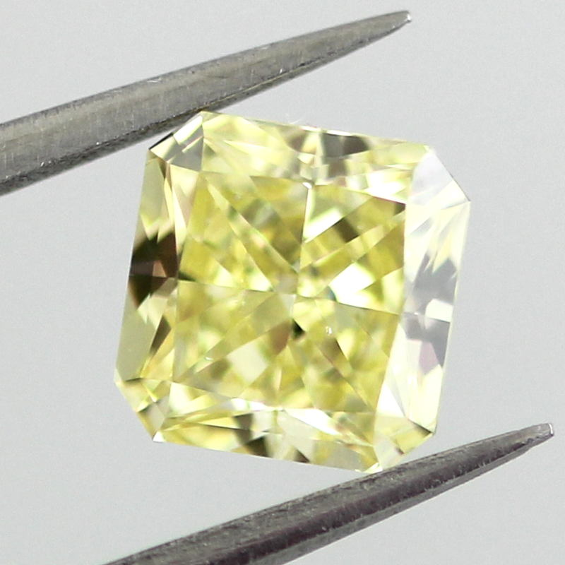 Fancy Intense Yellow Diamond, Radiant, 0.92 carat, VS2