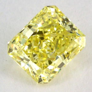 Fancy Intense Yellow, 1.22 carat, SI2