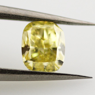Fancy Intense Yellow, 0.53 carat