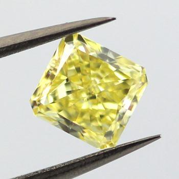 Fancy Intense Yellow, 1.10 carat, VVS1