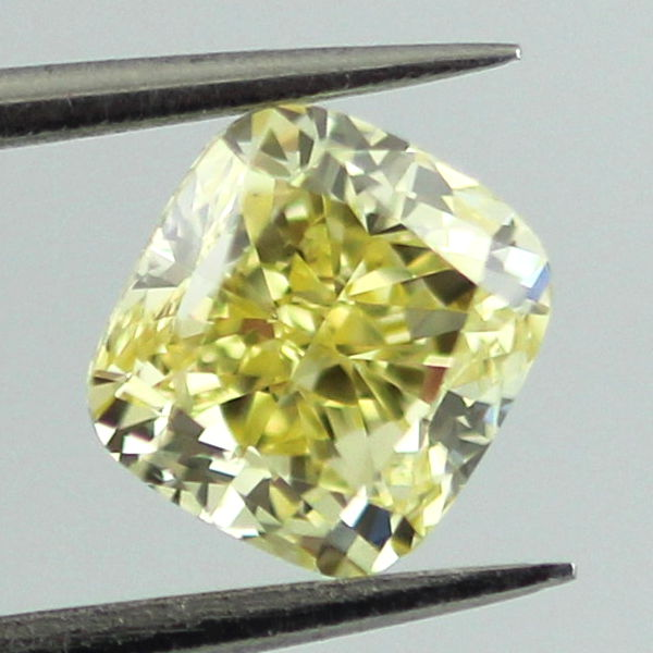 Fancy Intense Yellow Diamond, Cushion, 1.00 carat, SI2