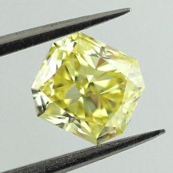 Fancy Intense Yellow, 0.90 carat, VS1
