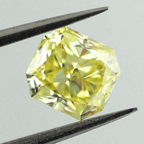Fancy Intense Yellow Diamond, Radiant, 0.90 carat, VS1
