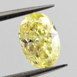 Fancy Intense Yellow, 0.71 carat, SI1
