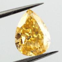 Fancy Intense Yellowish Orange, 0.90 carat
