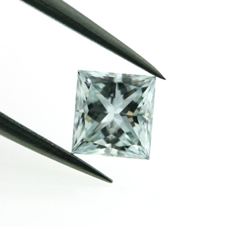 Fancy Light Bluish Green Diamond, Princess, 0.54 carat, SI1