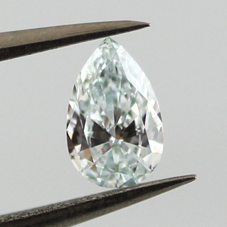Fancy Light Bluish Green Diamond, Pear, 0.25 carat, VS1