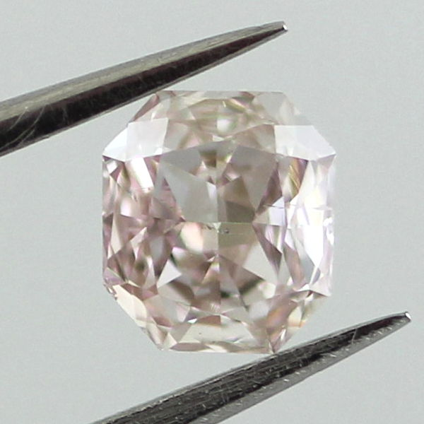 Fancy Light Brown Pink Diamond, Radiant, 0.41 carat, SI1