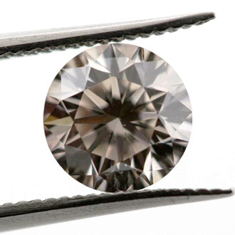 Fancy Light Brown Diamond, Round, 0.70 carat, VS2
