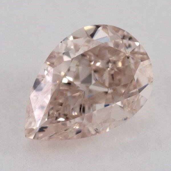 Fancy Light Brownish Pink Diamond, Pear, 0.41 carat, VS2