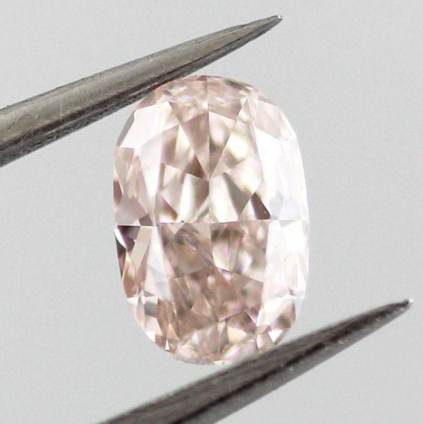 Fancy Light Brownish Pink Diamond, Oval, 0.38 carat, VVS2