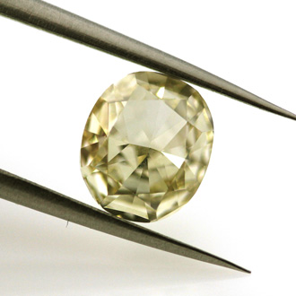 Fancy Light Brownish Yellow Diamond, Cushion, 1.70 carat, VS1