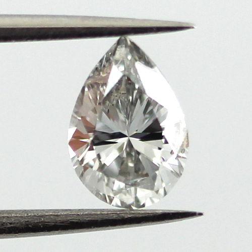 Fancy Light Gray Diamond, Pear, 0.56 carat