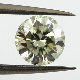Fancy Light Grayish Greenish Yellow, 1.01 carat, SI2