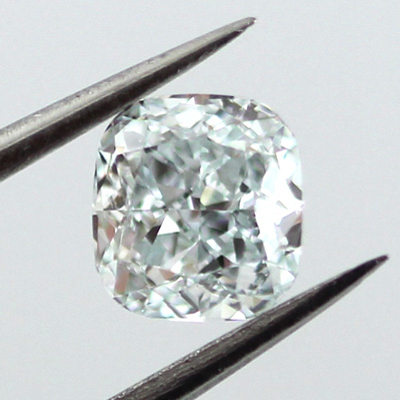 Fancy Light Greenish Blue Diamond, Cushion, 0.52 carat, SI1
