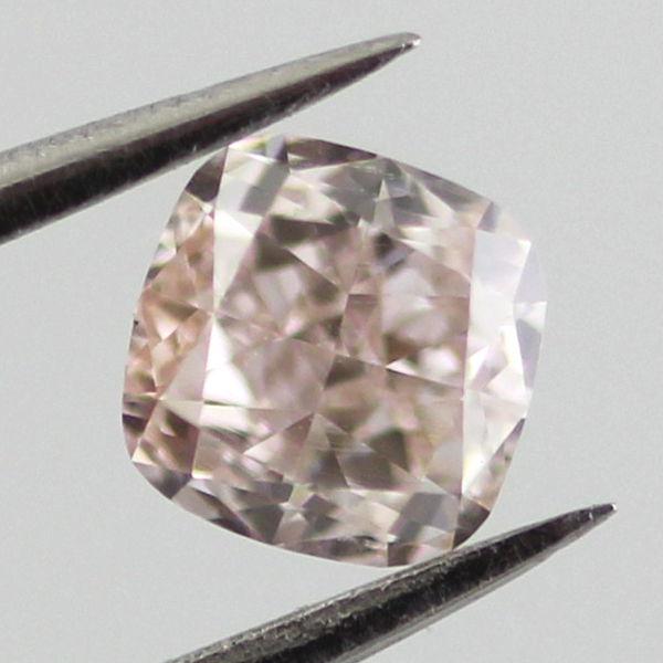 Fancy Light Orangy Pink Diamond, Cushion, 0.37 carat, VS2