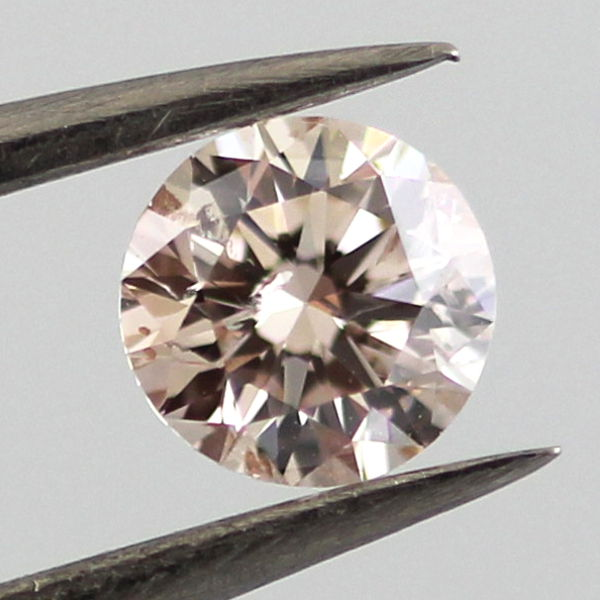 Fancy Light Pink Brown Diamond, Round, 0.46 carat
