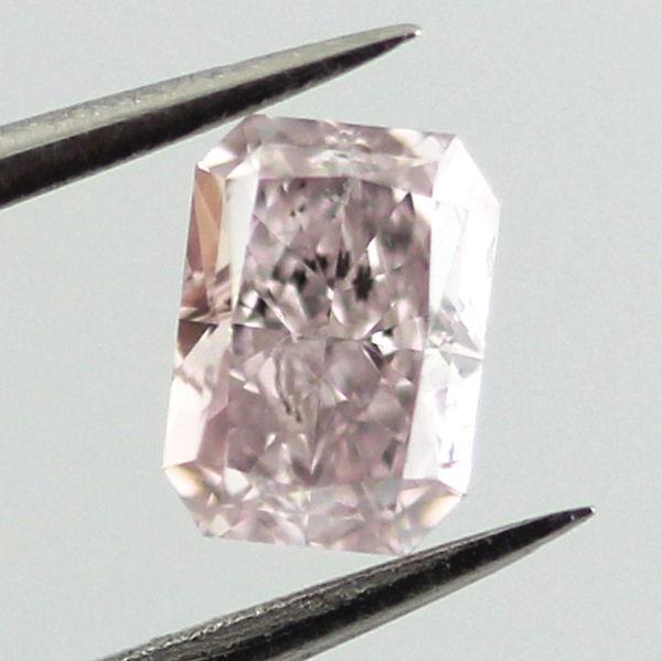 Fancy Light Pink Diamond, Radiant, 0.41 carat, SI2